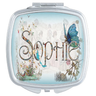 Personalised `Sophie' Mirror Compact Compact Mirror