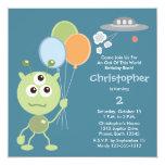 Personalised Space Alien Birthday Invitations