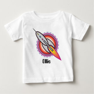 Personalised Space Rocket To Infinity and Beyond Baby T-Shirt
