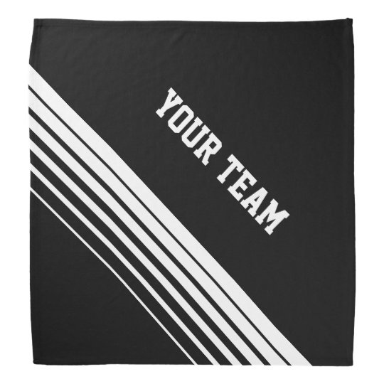 Personalised sports bandanna with team name