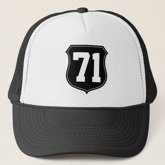 Personalised sports cap | Hat with number 71 1971