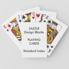 Personalised STANDARD INDEX Playing Cards Blank