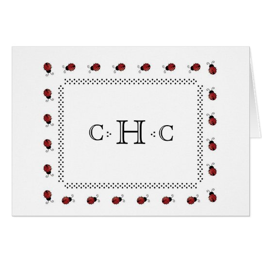 personalised stationery-ladybugs-with-dots card
