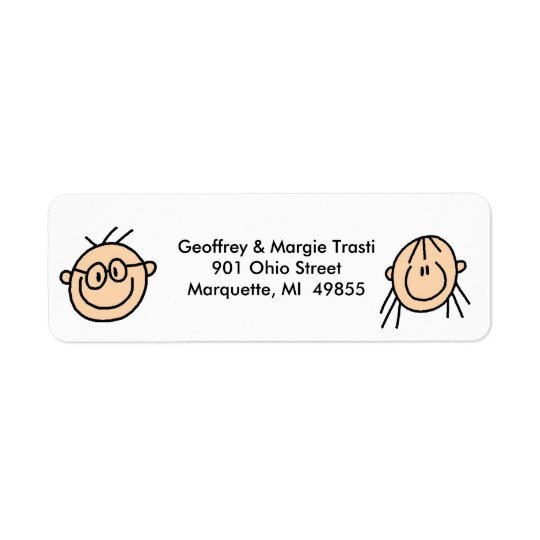 Personalised Stick Figure Address Labels