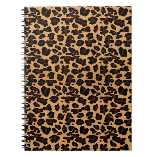 Personalised Stylish Chic Animal Leopard Print Notebooks