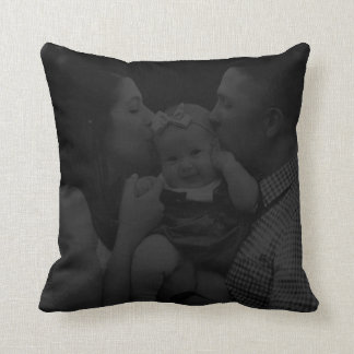 Personalised Subtle Black Photo Cushion