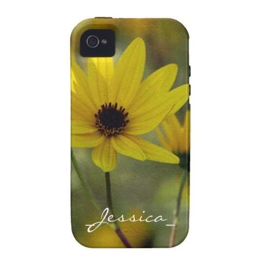 Personalised Sunflower Case-Mate Tough™ iPhone 4 C