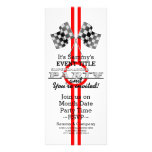 Personalised Supercharged Performance Party Rack Card Template