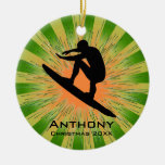 Personalised Surfing Ornament