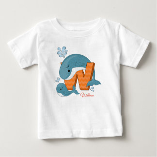 Personalised t-shirt - W for Whales