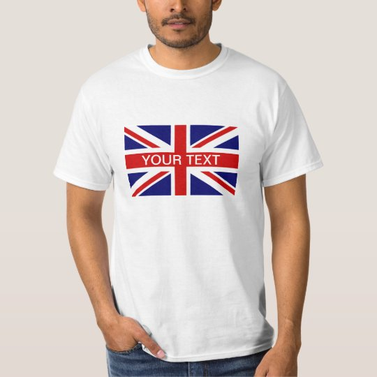 Personalised T Shirts with British Union Jack flag