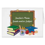 Personalised Teacher Note Card