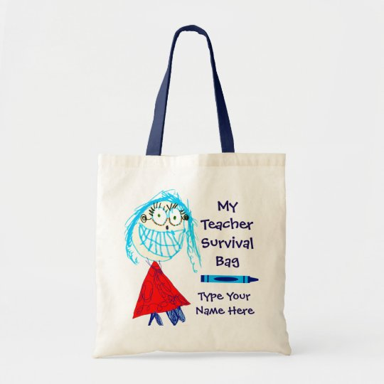 Personalised Teacher Survival Tote Bag