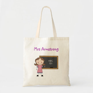 Personalised Teacher Tote Bag - Chalkboard Girl