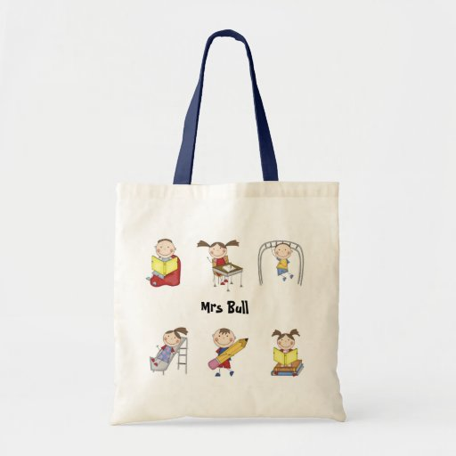 Personalised Teacher Tote Bag - School Mix Stick