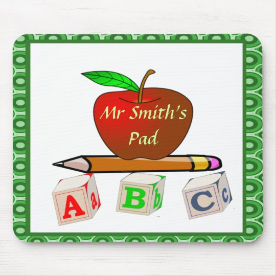 Personalised Teacher's ABC's Mouse Mat