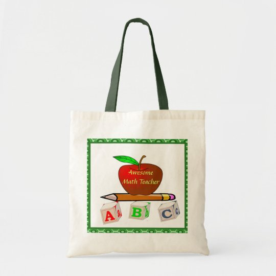 Personalised Teacher's ABC's Tote Bag
