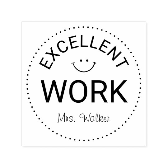 Personalised Teachers Excellent Work Self-inking Stamp
