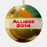 Personalised  Teardrop Shaped Christmas Ornament