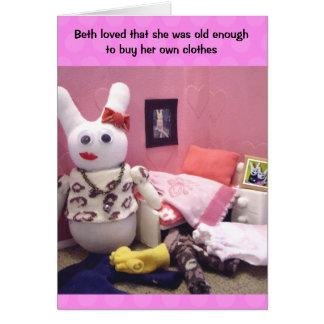 Personalised Teenage Girl Birthday Card - Humour