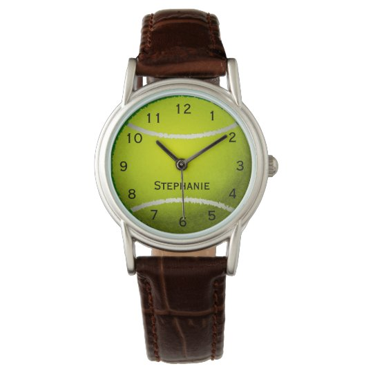 Personalised Tennis Ball Sports Women's Watch