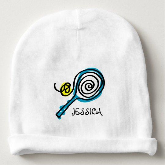 Personalised tennis beanie hat for newborn baby baby beanie  ddcc35b0841