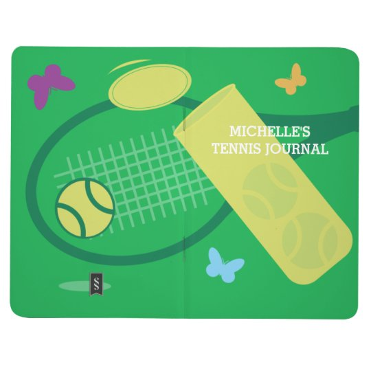 Personalised tennis coach pocket journal note book