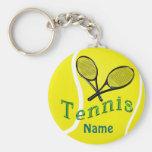 Personalised Tennis Keychain Tennis Team Gifts