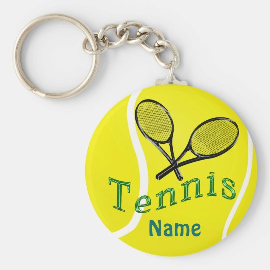 Personalised Tennis Keychain Tennis Team Gifts