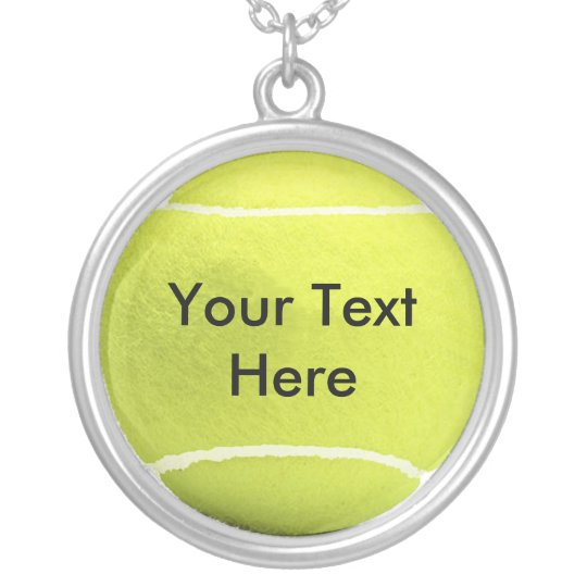 Personalised Tennis Pendant & Chain