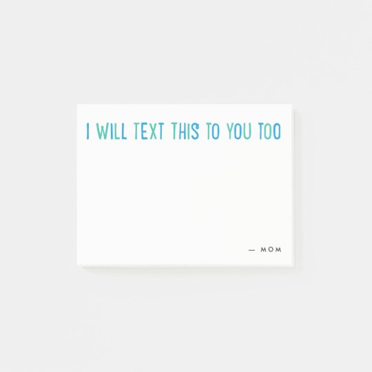 Personalised text message Post-it note