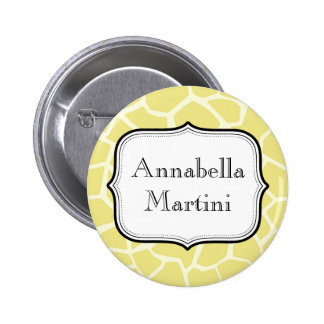 Personalised text Round Button