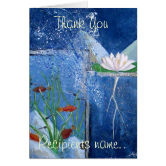 Personalised Thank You Art Card 10