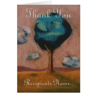 Personalised Thank You Art  Card 17