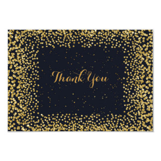 Personalised Thank You Cart Black Gold Confetti Card