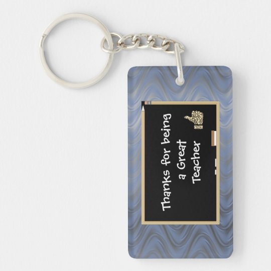 Personalised Thanks to Teacher Key Ring