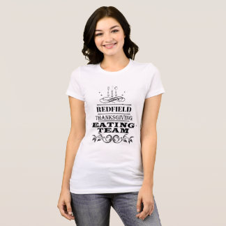 Personalised  Thanksgiving Eating Team T-Shirt
