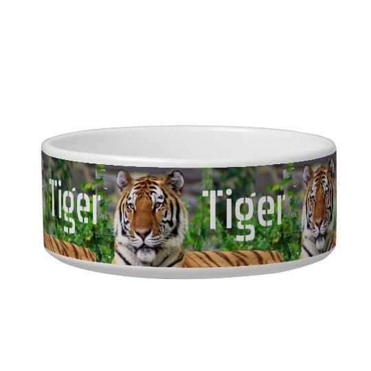 Personalised TIger Cat Dish