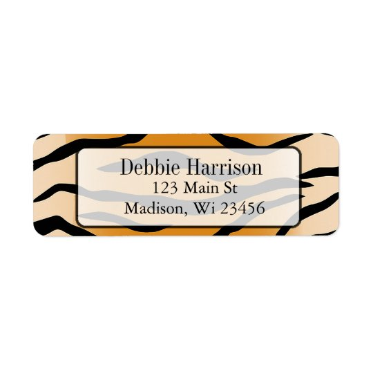 Personalised Tiger Stripes Return Address Labels