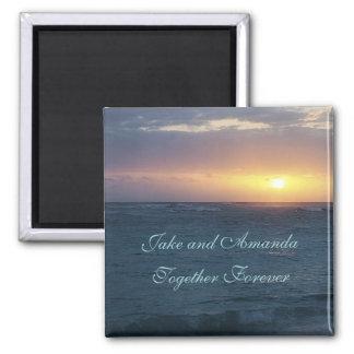 Personalised: Together Forever: Sunset Magnet