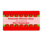 Personalised Tomato Sauce Labels