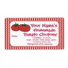 Personalised Tomatoes Sauce Jam Canning Jar Labels