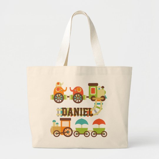 Personalised Trains Tote Bag