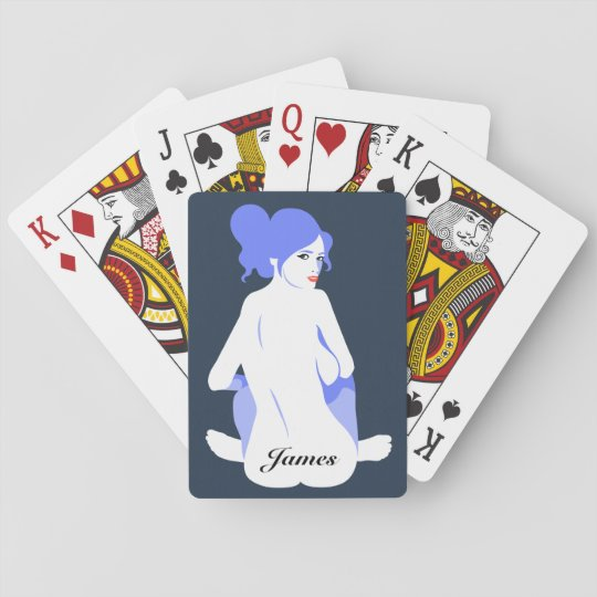 "Personalised ""Tramp Stamp"" Playing Cards for Men"