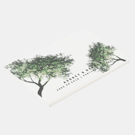 Personalised Trees Love Wedding Guest Book