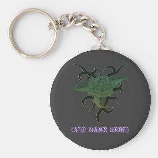 Personalised Tribal Rose - Keychain