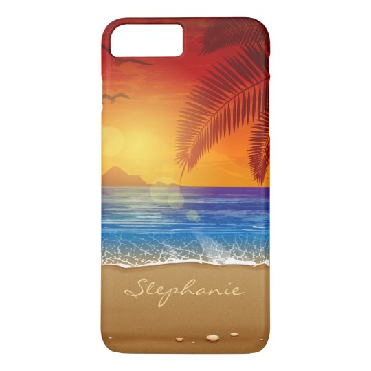 Personalised Tropical Beach Sunset | Phone Case