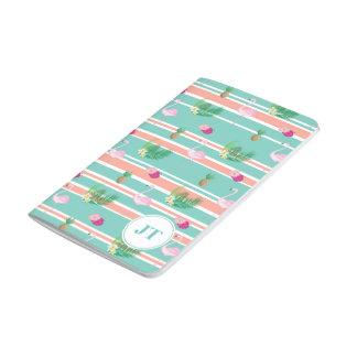 Personalised Tropical Flamingo Pocket Journal