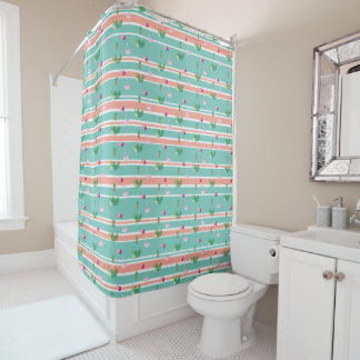 Personalised Tropical Flamingo Shower Curtain