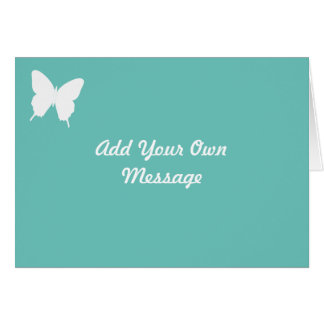 Personalised Turquoise Butterfly Greetings Card